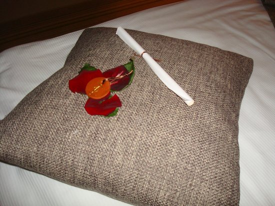 Hotel Sotelia: Love token on the pillow upon arrival