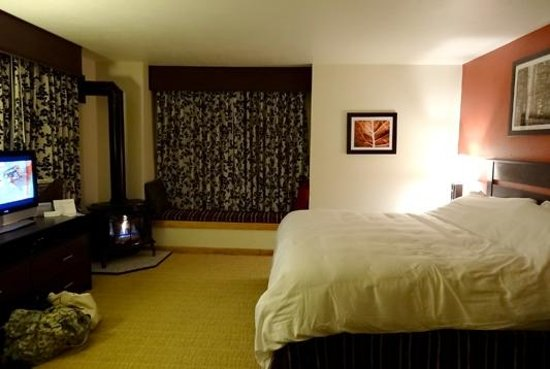 Hotel Aspen: View of room with fireplace