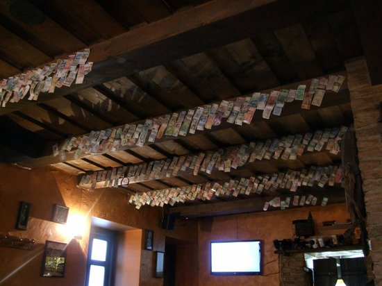 Busi Trecias : International currencies hanging from the ceiling