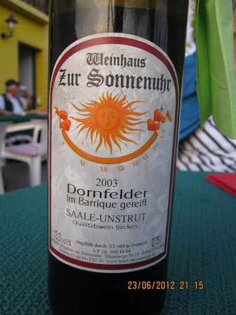 Hotel Zur Sonnenuhr: A bottle of one of the house wines.