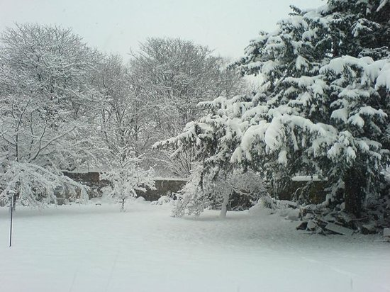 Garvally House: Just a little snow!