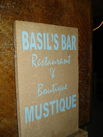 Basil's Bar - Mustique: A legend in his own mind
