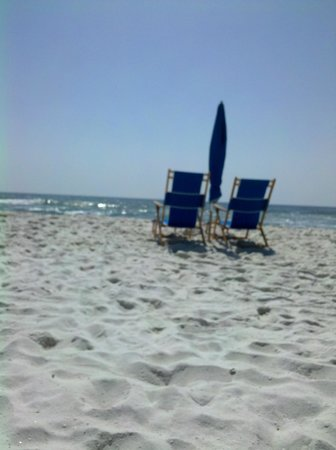 Hampton Inn Pensacola Beach: Beach area right by Hampton Inn, Pensacola, FL