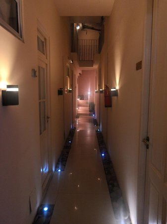 Blue Soho Hotel: the hallway to some of the rooms