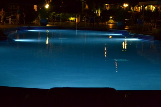 St. James's Club Morgan Bay: Pool at night