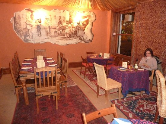 The Blue Nile Restaurant: The Blue Nile (above the Blues Bar) with the unknown mural
