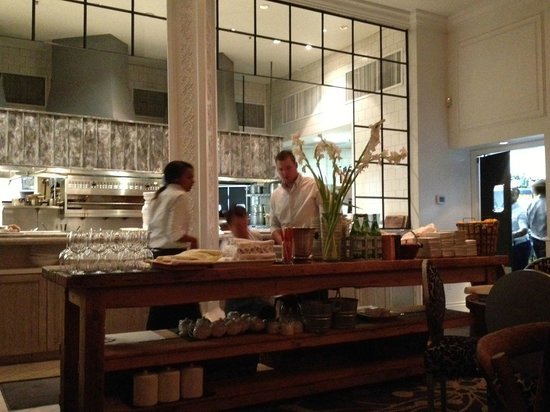Wildflower: The wait station and kitchen