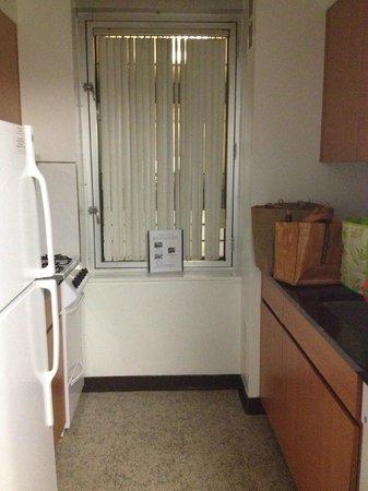 New York Presbyterian Guest Facility: Room 1124 kitchen