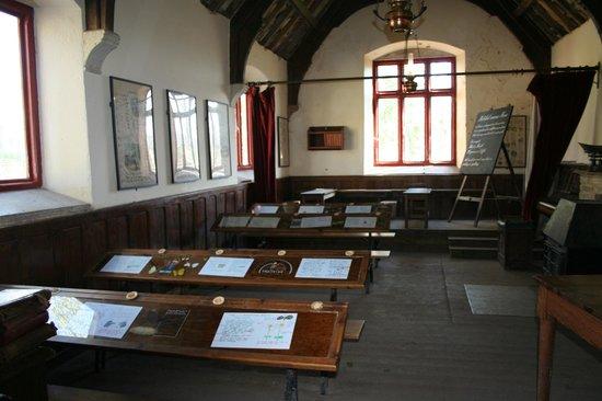 Tyneham: The Schoolroom as it was.