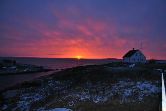 Peggy's Cove Bed & Breakfast: Amazing sunset