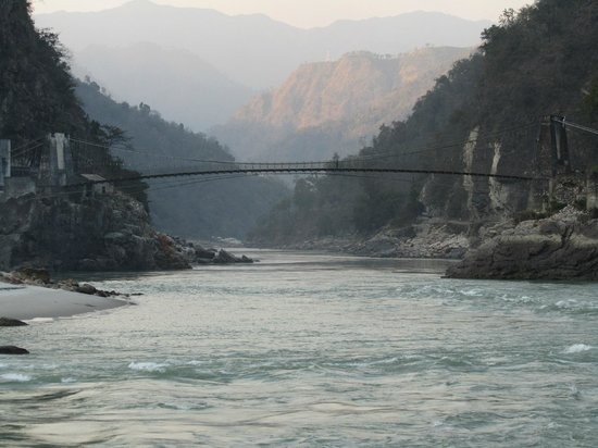 Atali : View of the Ganga on our rafting trip