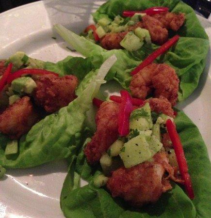 Blossom: fried shrimp butter lettuce wraps