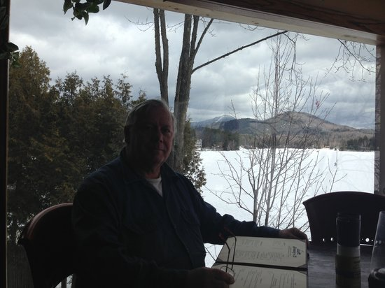 Jimmy's 21: My buddy Ed. Whiteface Mt in background