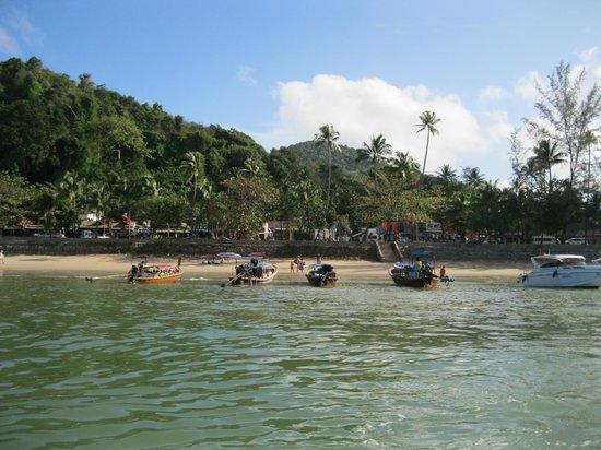 Aonang Goodwill: Ao Nang beach viewed from a boat