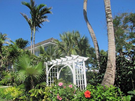 Sandals Royal Bahamian Spa Resort & Offshore Island : Pergola près de piscine