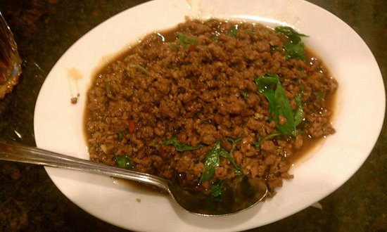 Kung Fu Thai & Chinese Restaurant: Chopped beef chili and mint