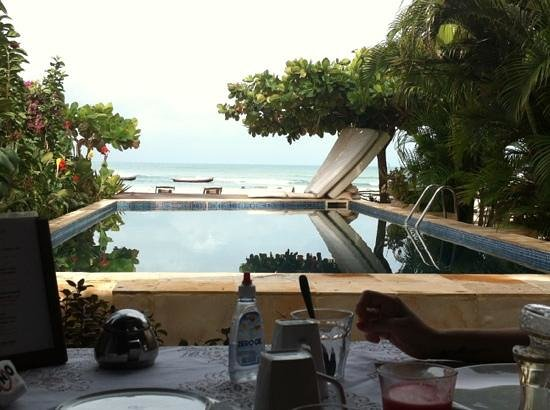 Casa na Praia: vista do café da manha.