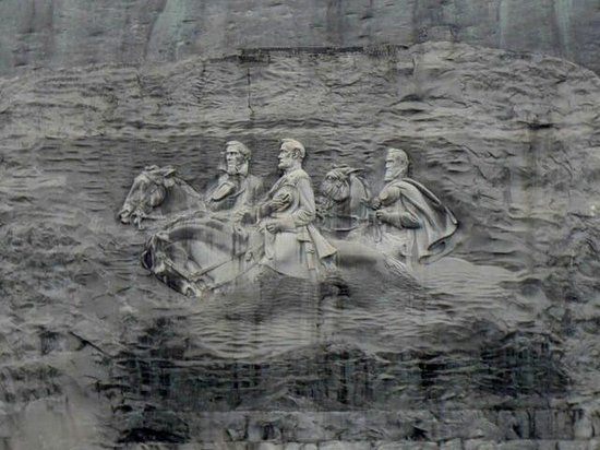 The carving on stone mountain picture of