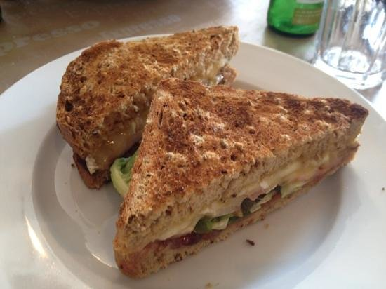 The Jack In The Green Inn: Brie and red currant jelly sandwich