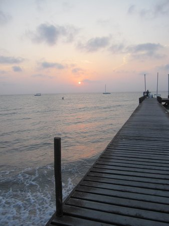 Occidental Cozumel: the pier at sunset
