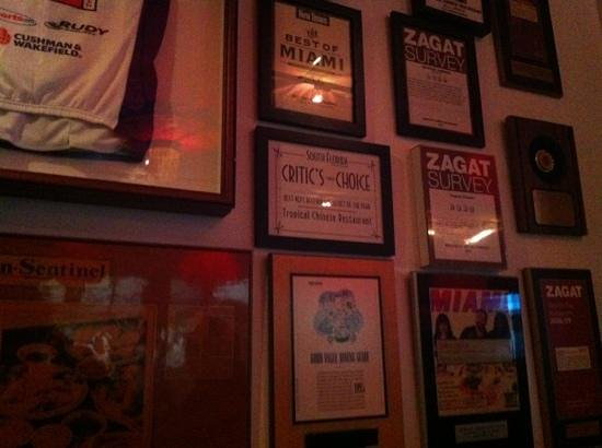 Tropical Chinese Restaurant: Zagat, etc. recommendations