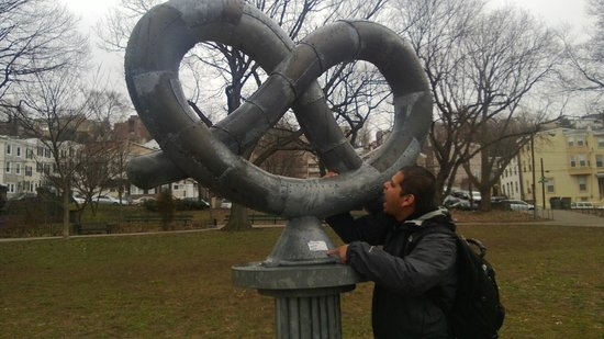 Chew Philly Food Tours: Me at pretzel park.  Cool park in the middle of the neighborhood.