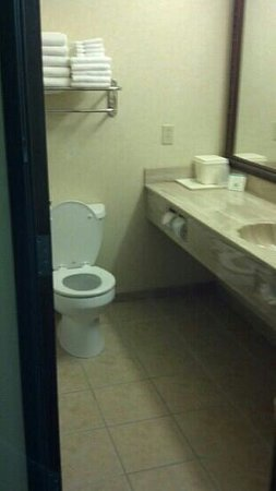 Comfort Suites: A clean but routine bathroom
