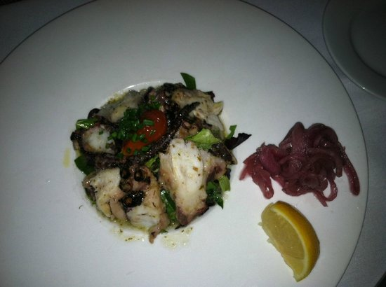 Octopus appetizer picture of a fish called avalon miami for Fish call review