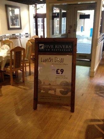 Five Rivers Restaurant: Lunch Deal