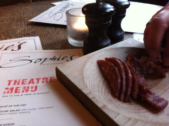 Sophie's Steakhouse - Covent Garden : pass the salami