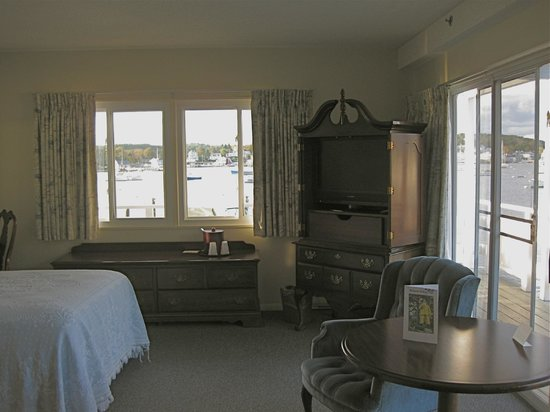 Corner room with extraordinary views, Brown's Wharf Inn, Boothbay Harbor, ME