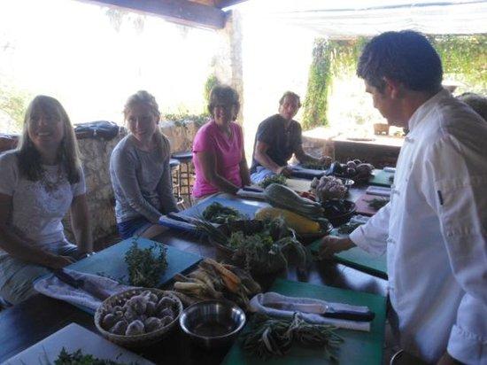 Organic Restaurant at Huerta Los Tamarindos: Chef Enrique is stylin'