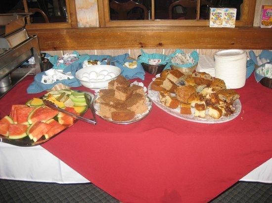 Buffet breakfast, Brown's Wharf Inn, Boothbay Harbor, ME