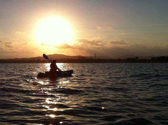 Barefoot Travelers Rooms : sunset and time to end the kayak trip