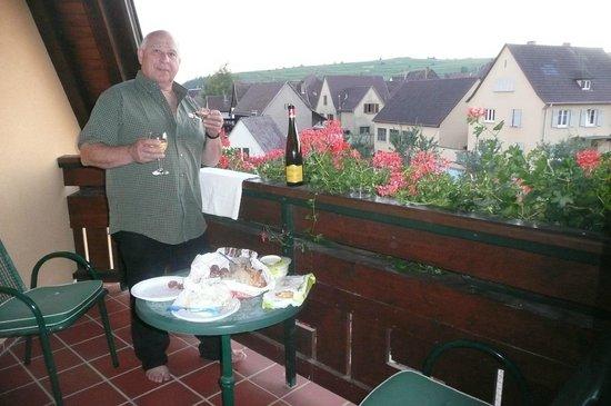 Le Mandelberg : Souper sur notre grand balcon
