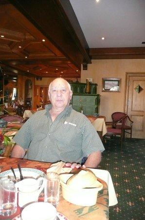 Le Mandelberg : Déjeuner à la salle à manger de l'hôtel