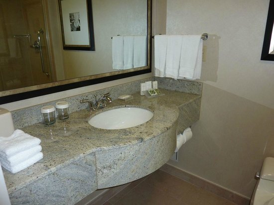 Hilton Garden Inn New York/West 35th Street: Plenty of counter space in the bathroom! :-)))