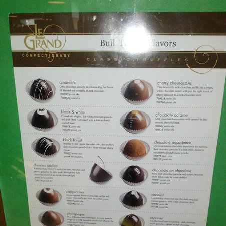 Dusty's Wine Bar: Le Grand Truffle Chocolates available in the grocery