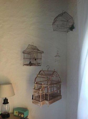 Bedroom decor at Casa Los Jazmines