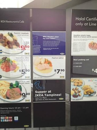 Some of the menus @ IKEA TAmpines - Picture of Ikea