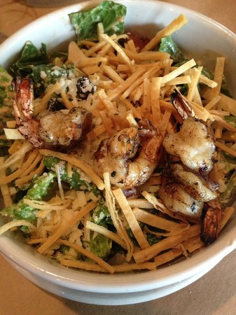 Raven Grill: Spicy Southwestern Shrimp Caesar AKA Romaine Lettuce with 4 Shrimp