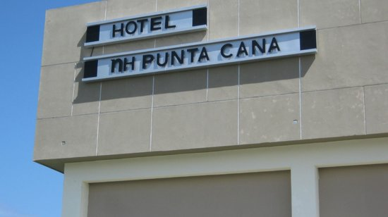 NH Punta Cana: Hotel name on front of hotel