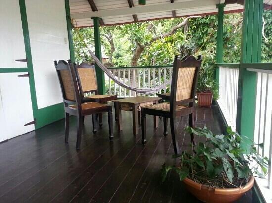 Hacienda Gripinas: balcon principal