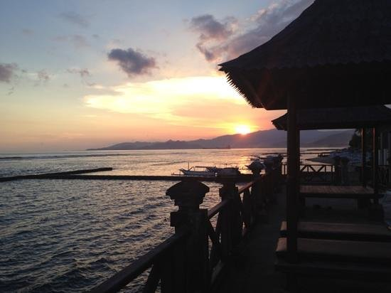Ida Beach Village : with a view of sunset from the restaurant