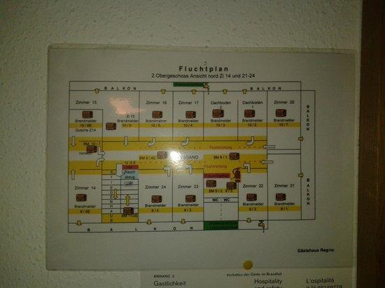 Pension Regina: План 2-го этажа