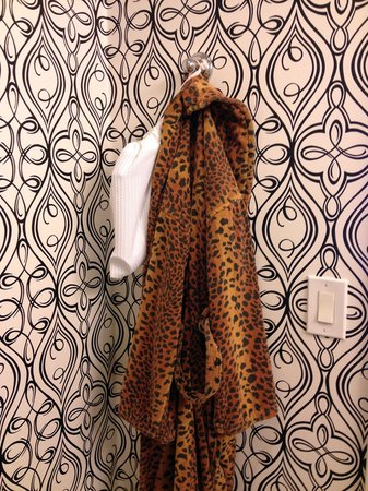 The Marker San Francisco, A Joie de Vivre Hotel: Room amenities include (a slightly kitch) animal-print robes to snuggle up in