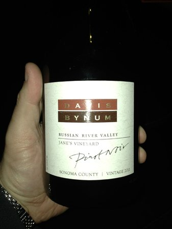 5A5 Steak Lounge : 2011 Davis Bynum Pinot Noir, Russian River Valley