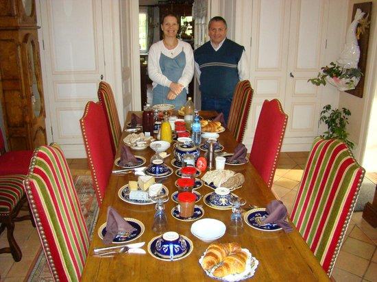 La Maison de l'Argentier du Roy: Christine y yo antes de desayunar