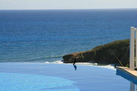 Hotel Amaudo: En regardant vers l'océan
