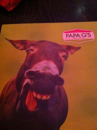Papa G's: menu
